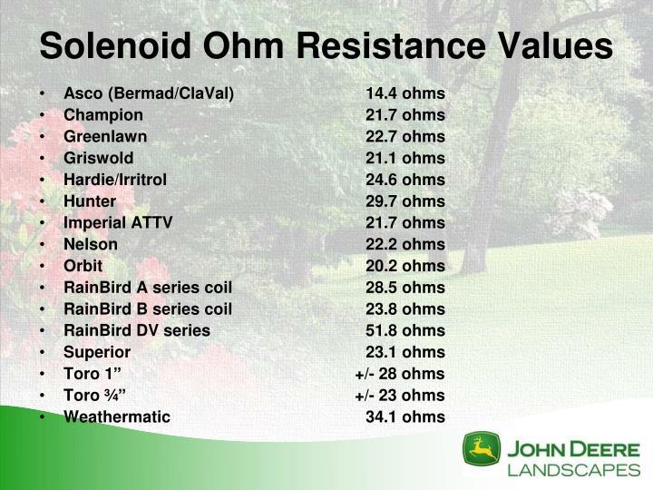 Asco (Bermad/ClaVal)14.4 ohms