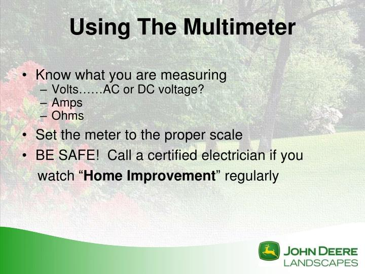Know what you are measuring