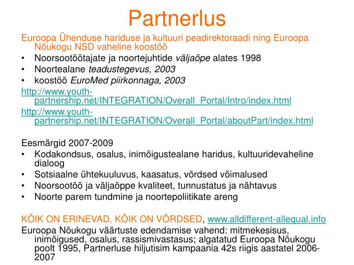 Partnerlus