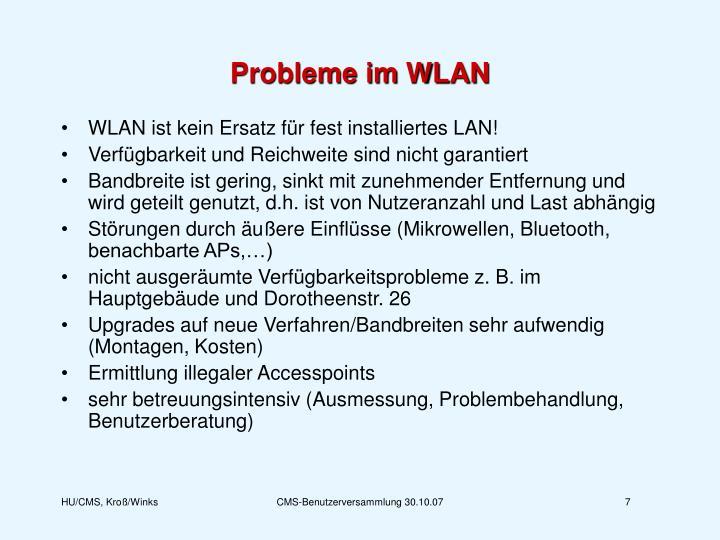 Probleme im WLAN