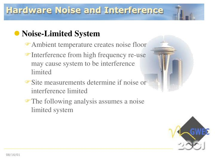 Hardware Noise and Interference