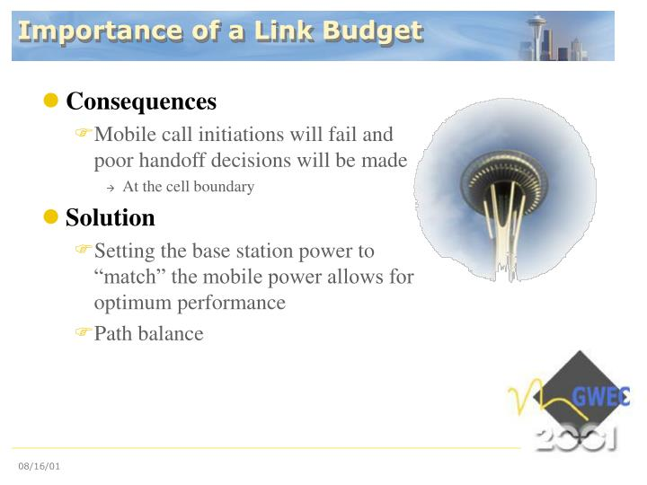 Importance of a Link Budget