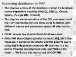 accessing databases in php