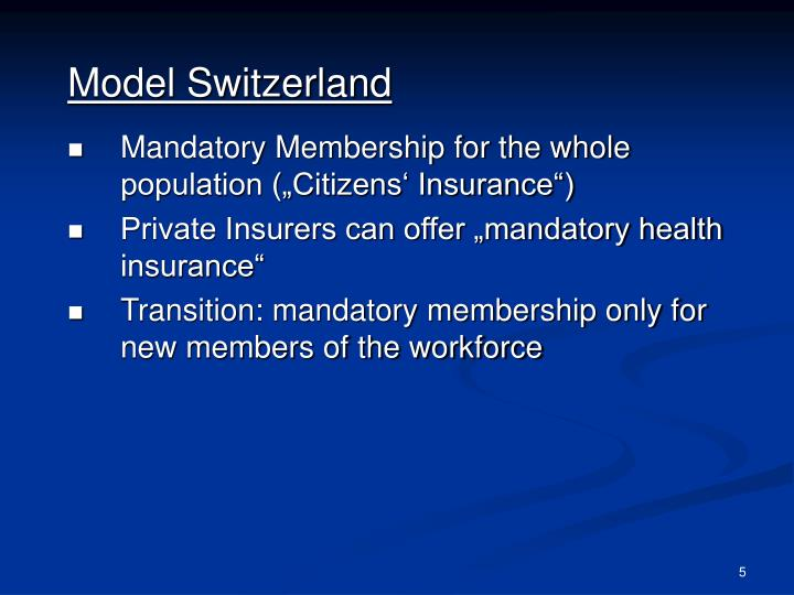Model Switzerland