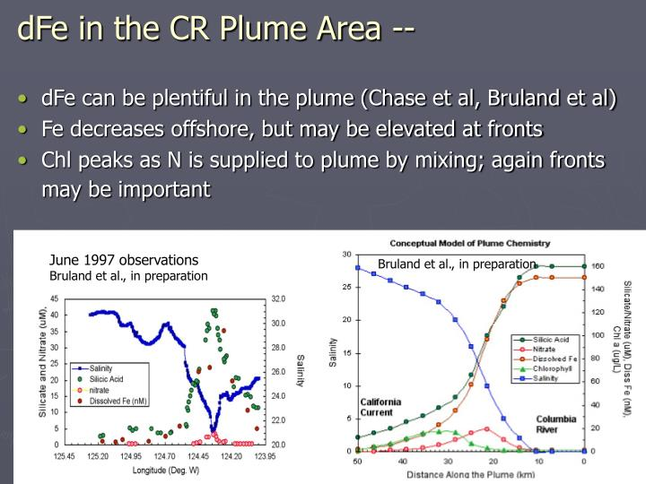 dFe in the CR Plume Area --