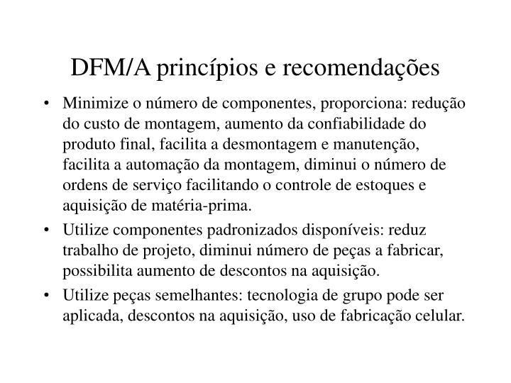 DFM/A princípios e recomendações