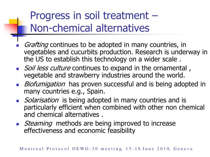 Progress in soil treatment –