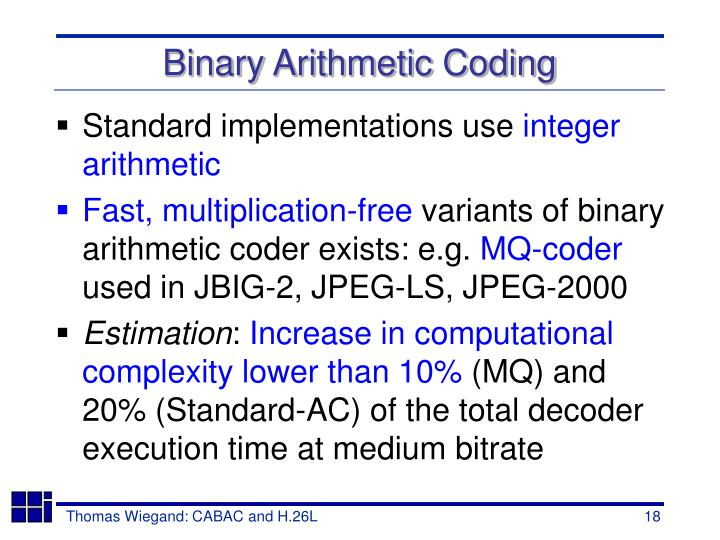 Binary Arithmetic Coding