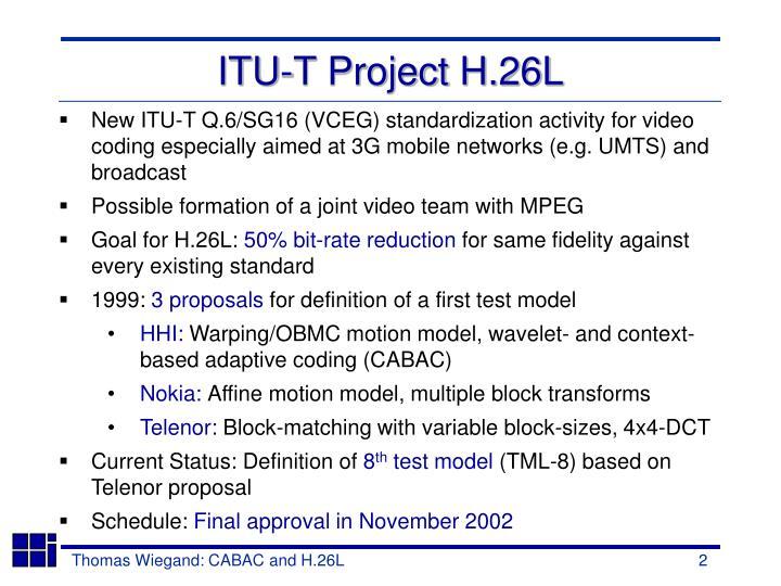 ITU-T Project H.26L