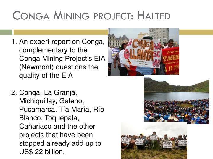 Conga Mining project: Halted