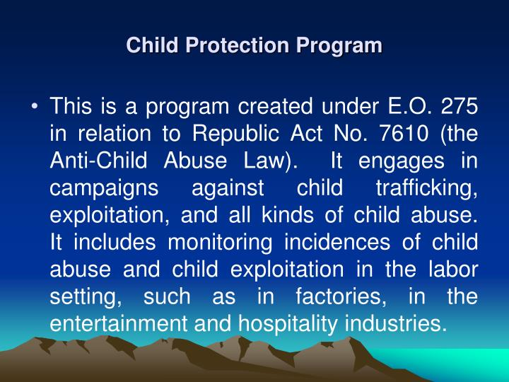 Child Protection Program