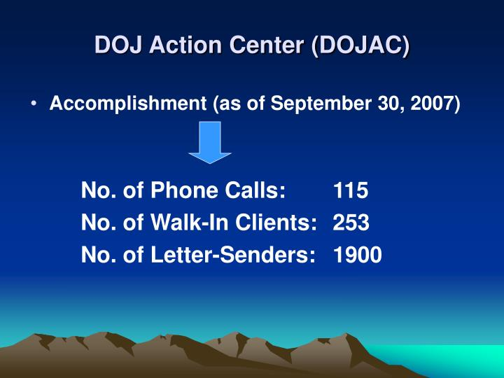 DOJ Action Center (DOJAC)