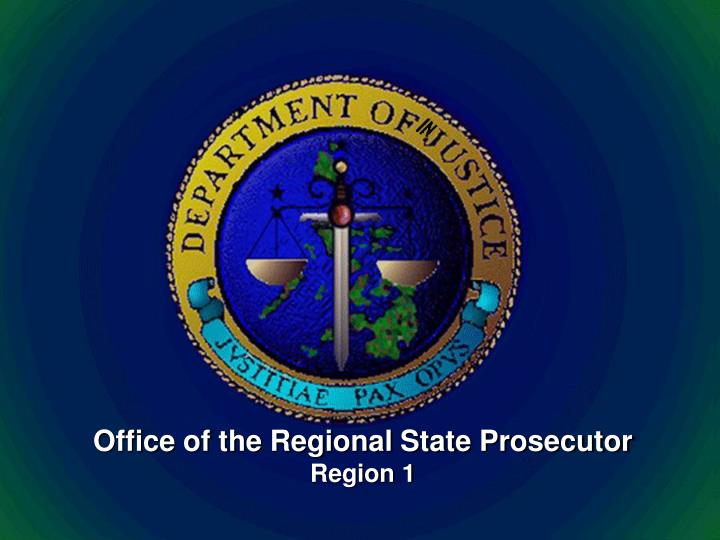 Office of the regional state prosecutor region 1