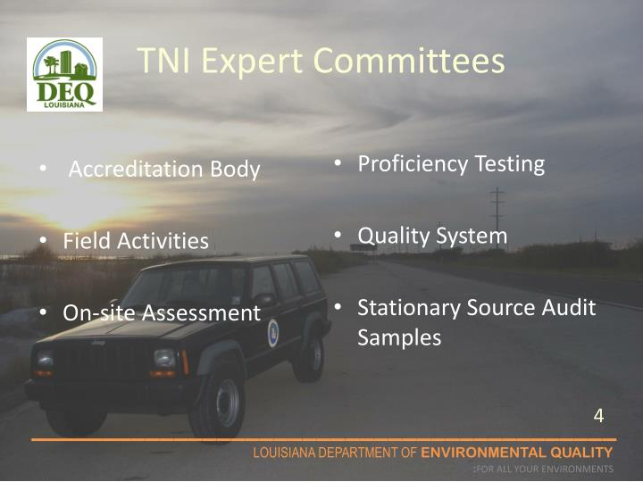 TNI Expert Committees