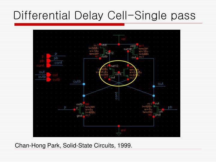Differential Delay Cell-Single pass