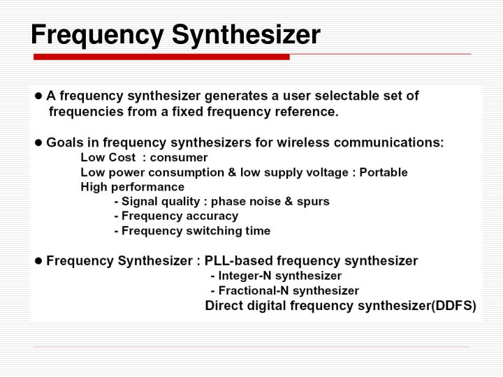 Frequency Synthesizer