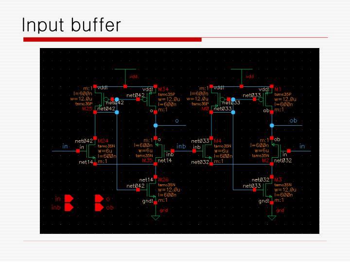 Input buffer
