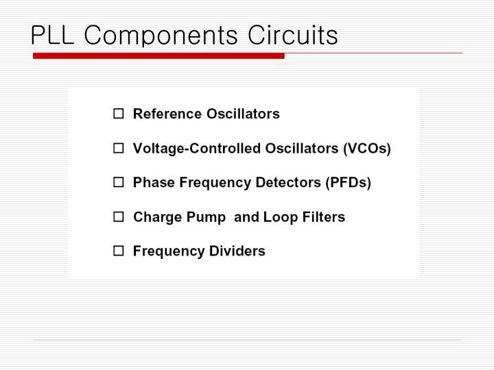 PLL Components Circuits