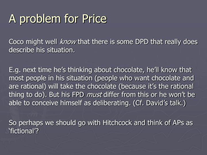 A problem for Price