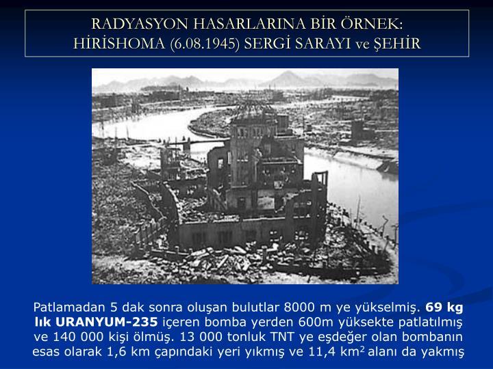 RADYASYON HASARLARINA BR RNEK: