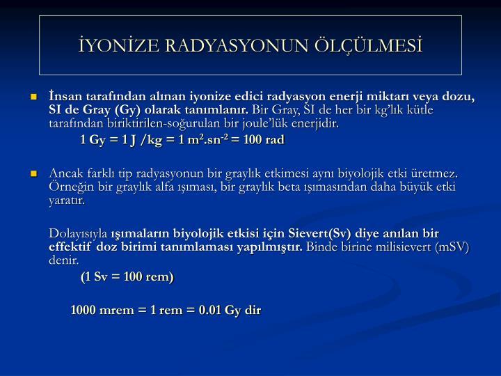 YONZE RADYASYONUN LLMES