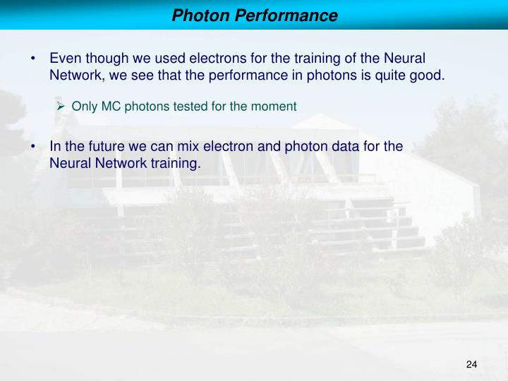 Photon Performance