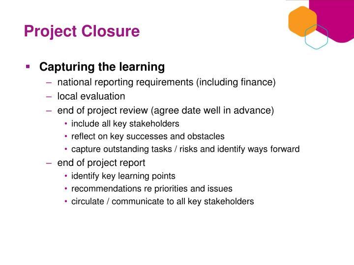 Project Closure