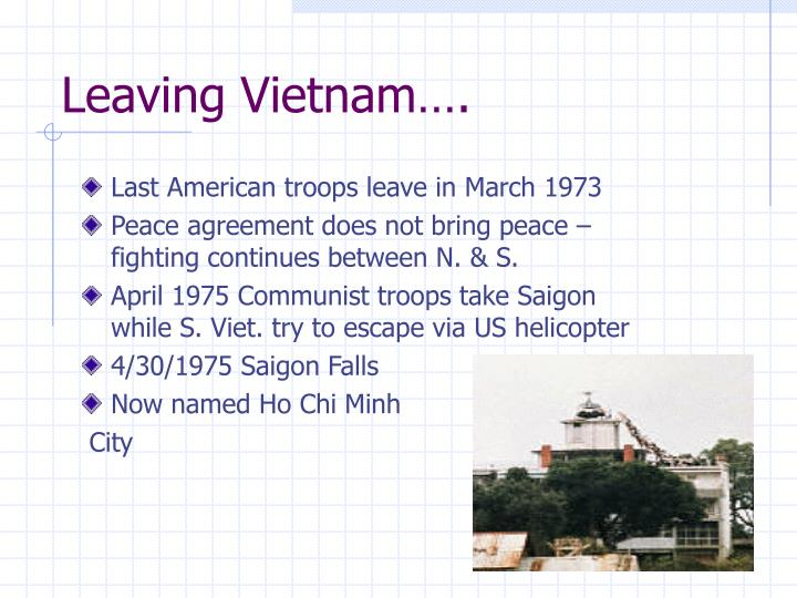 Leaving Vietnam….