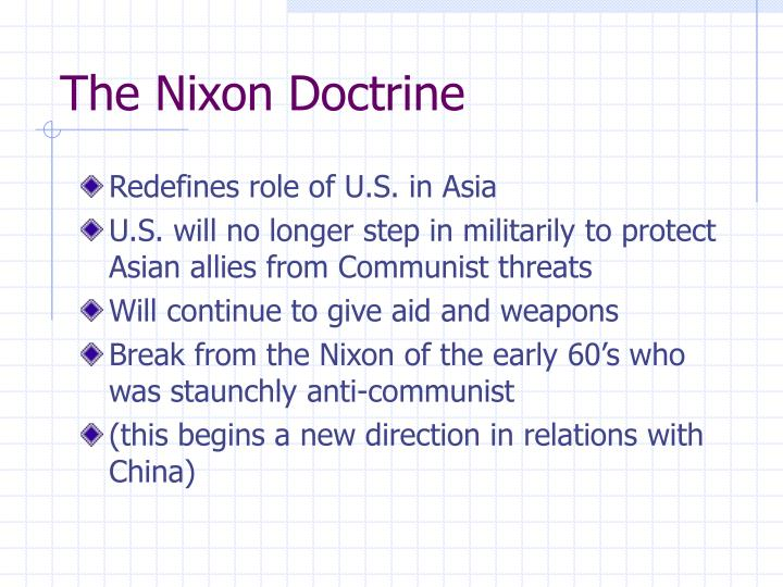 The Nixon Doctrine