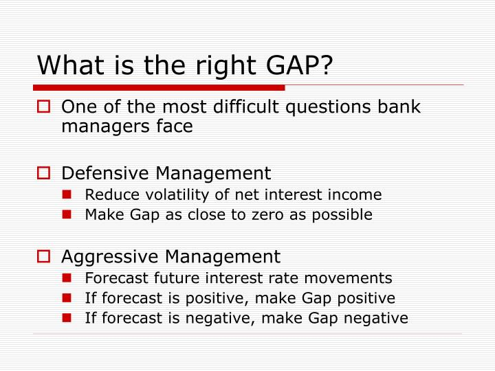 What is the right GAP?