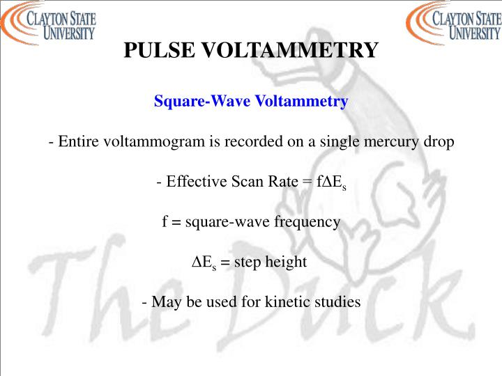 PULSE VOLTAMMETRY
