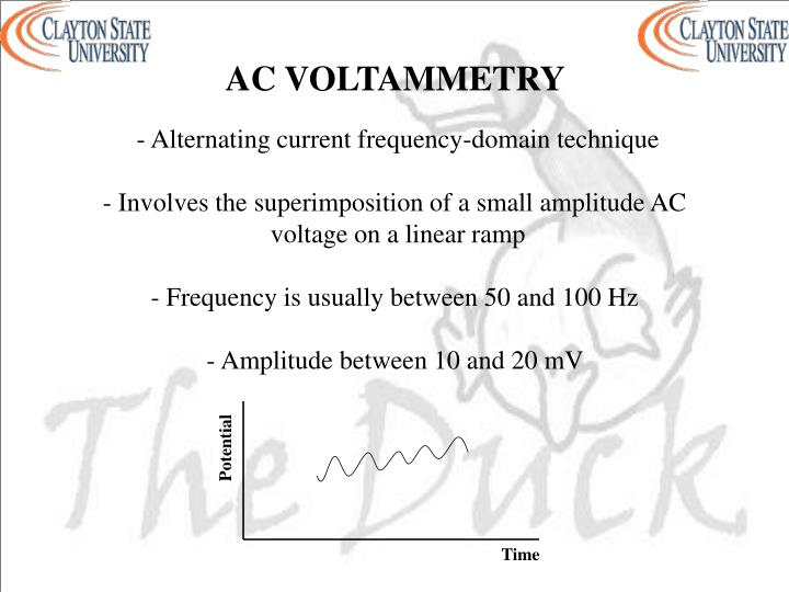 AC VOLTAMMETRY