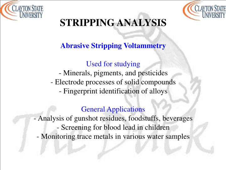 STRIPPING ANALYSIS