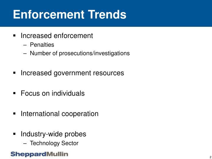Enforcement Trends