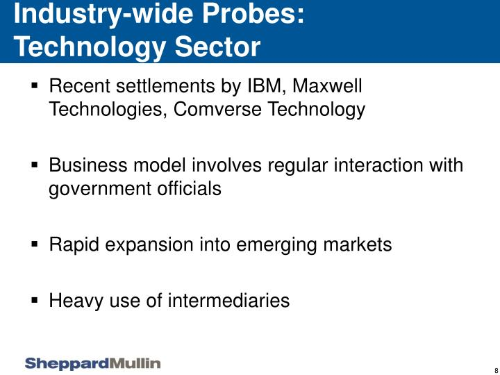 Industry-wide Probes: