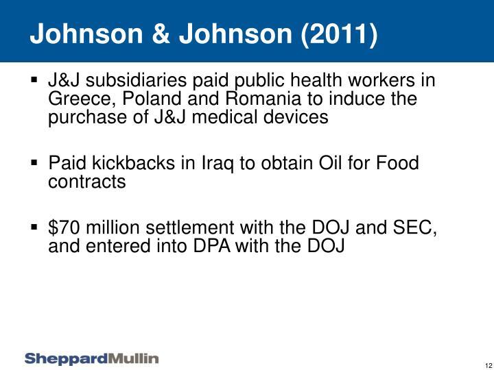Johnson & Johnson (2011)
