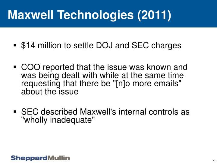 Maxwell Technologies (2011)