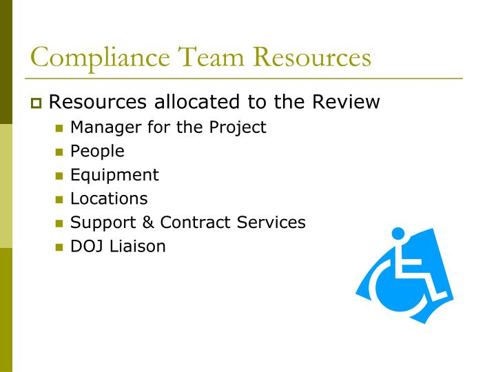 Compliance Team Resources