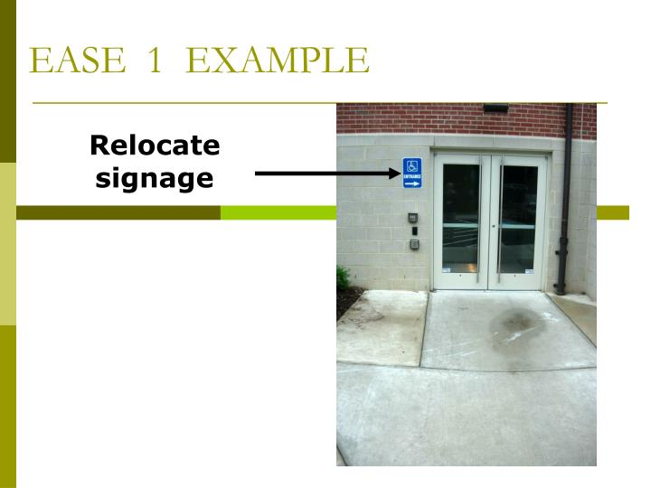 EASE  1  EXAMPLE