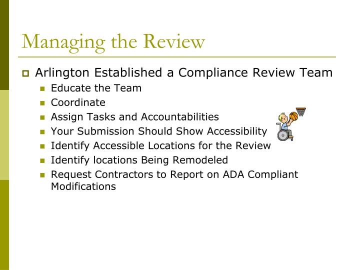 Managing the Review