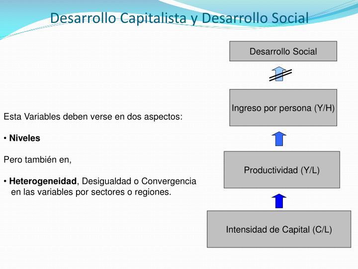 Desarrollo Capitalista y Desarrollo Social