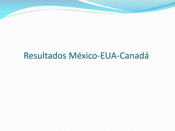 Resultados México-EUA-Canadá