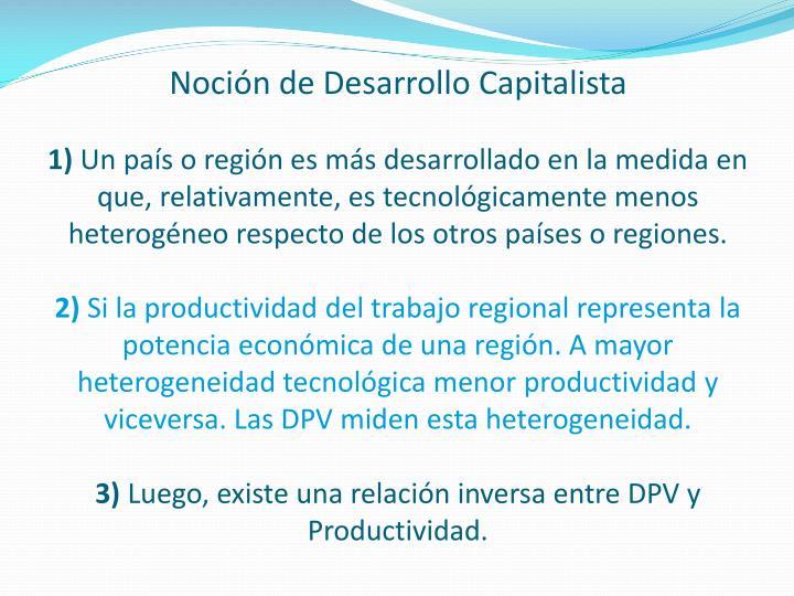 Noción de Desarrollo Capitalista
