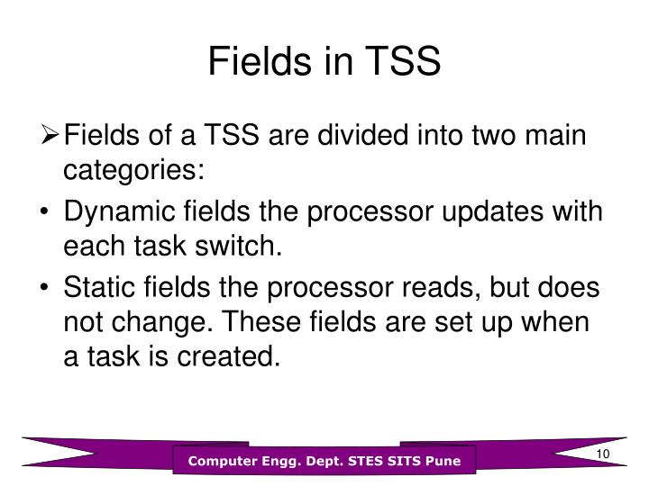 Fields in TSS