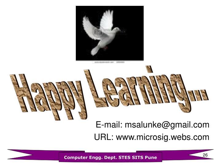 E-mail: msalunke@gmail.com