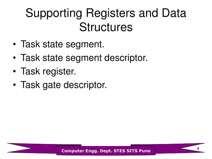 Supporting Registers and Data Structures