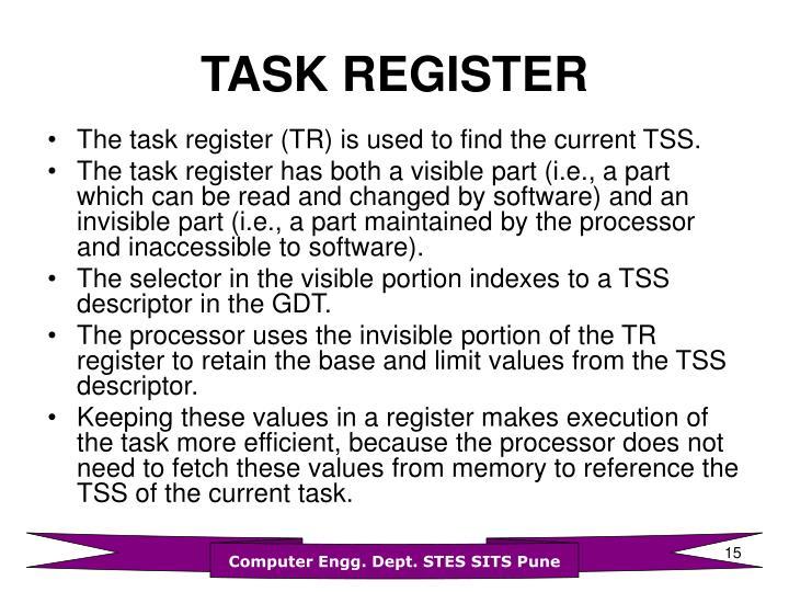TASK REGISTER