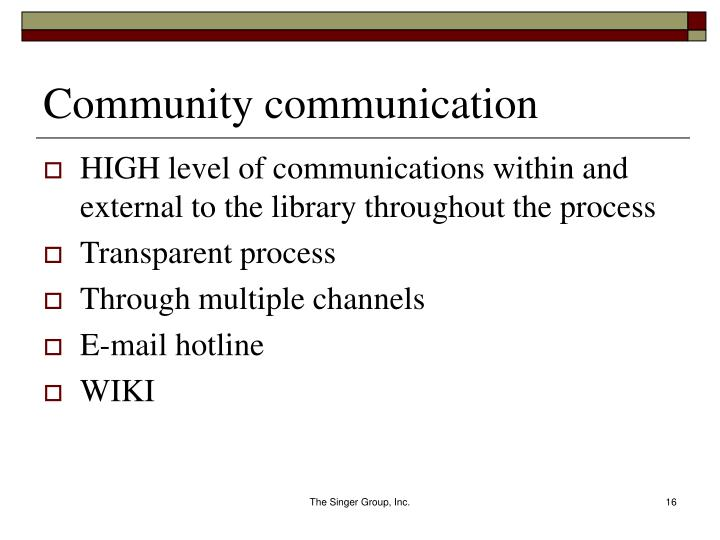 Community communication
