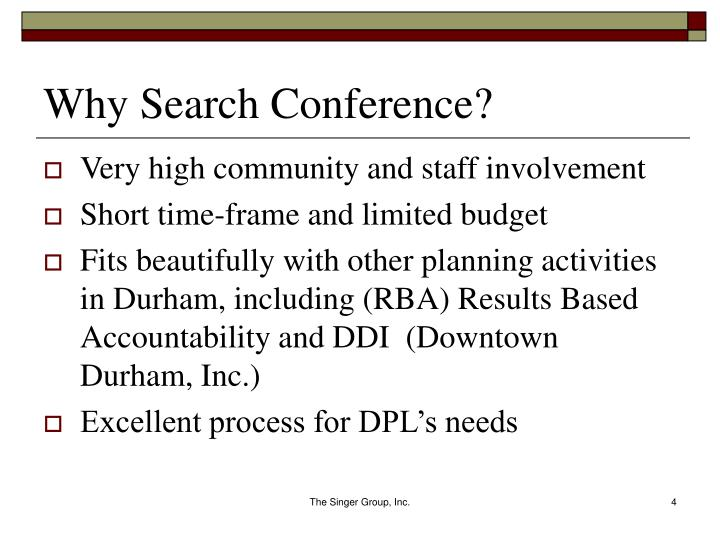 Why Search Conference?