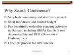 why search conference